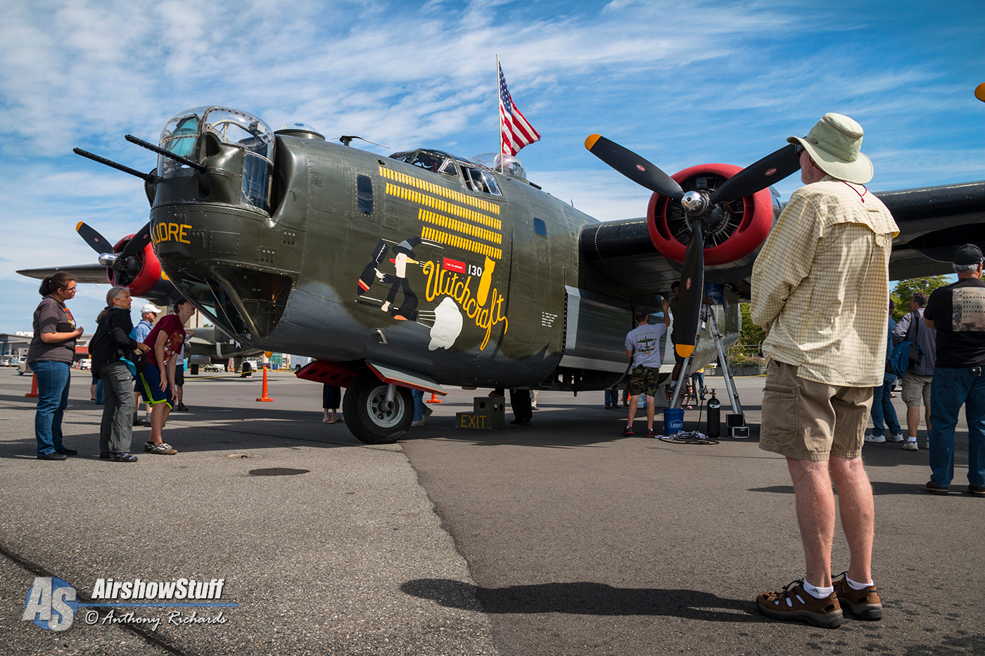 Collings Foundation Wings of Freedom Tour 2015 - B-24 Liberator 'Witchcraft'