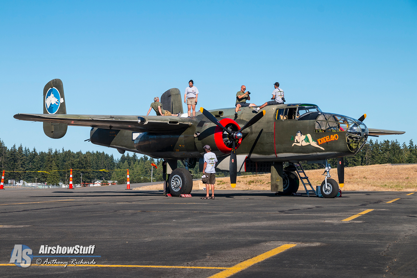 Collings Foundation Wings of Freedom Tour 2015  B-25 Mitchell 'Tondelayo'